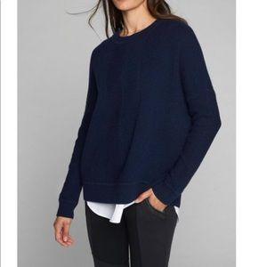 Athlete women's Small wool cashmere blue crew neck